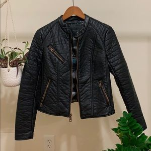 Goldie Racer Leather Moto Jacket